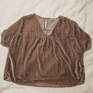 Madewell lavender butterfly top